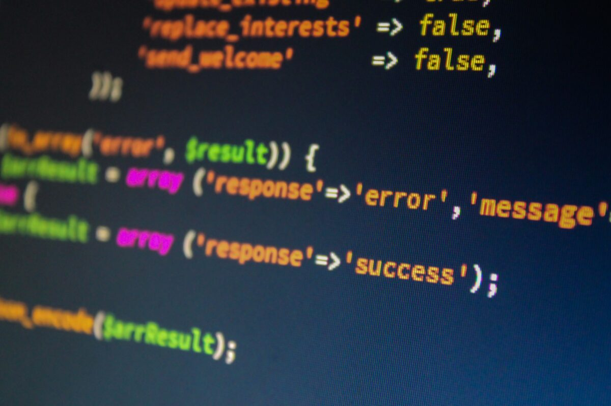 Classy PHP stock image
